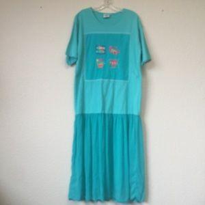 Johnny Was T-Shirt Maxi Dress Cruise Beach